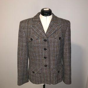 Vintage Pendleton plaid wool blazer, Sz 10